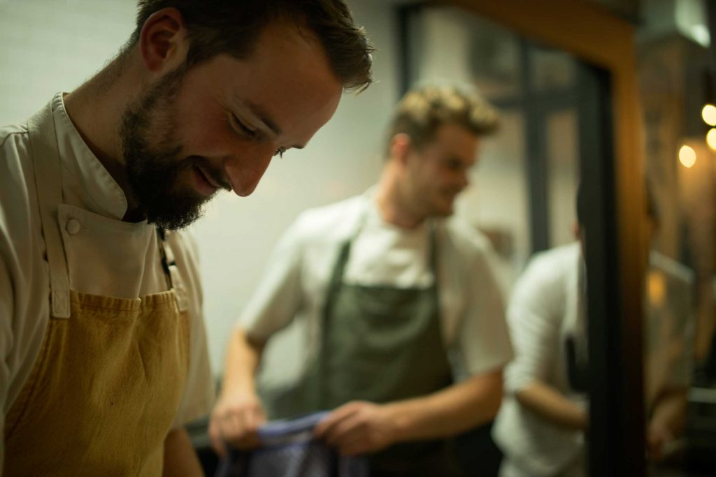 Lode and Stijn cooking at Kumpel & Keule