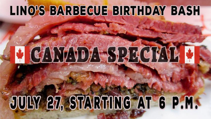 Lino's BBQ Canada Special