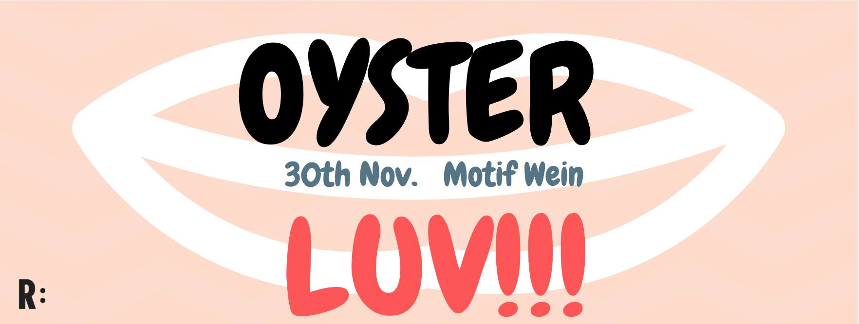 Oyster Luv Motif Wine Berlin