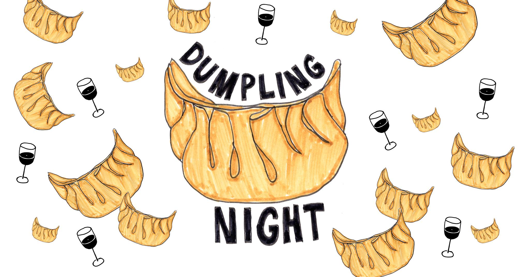 Dumpling night Motif wine