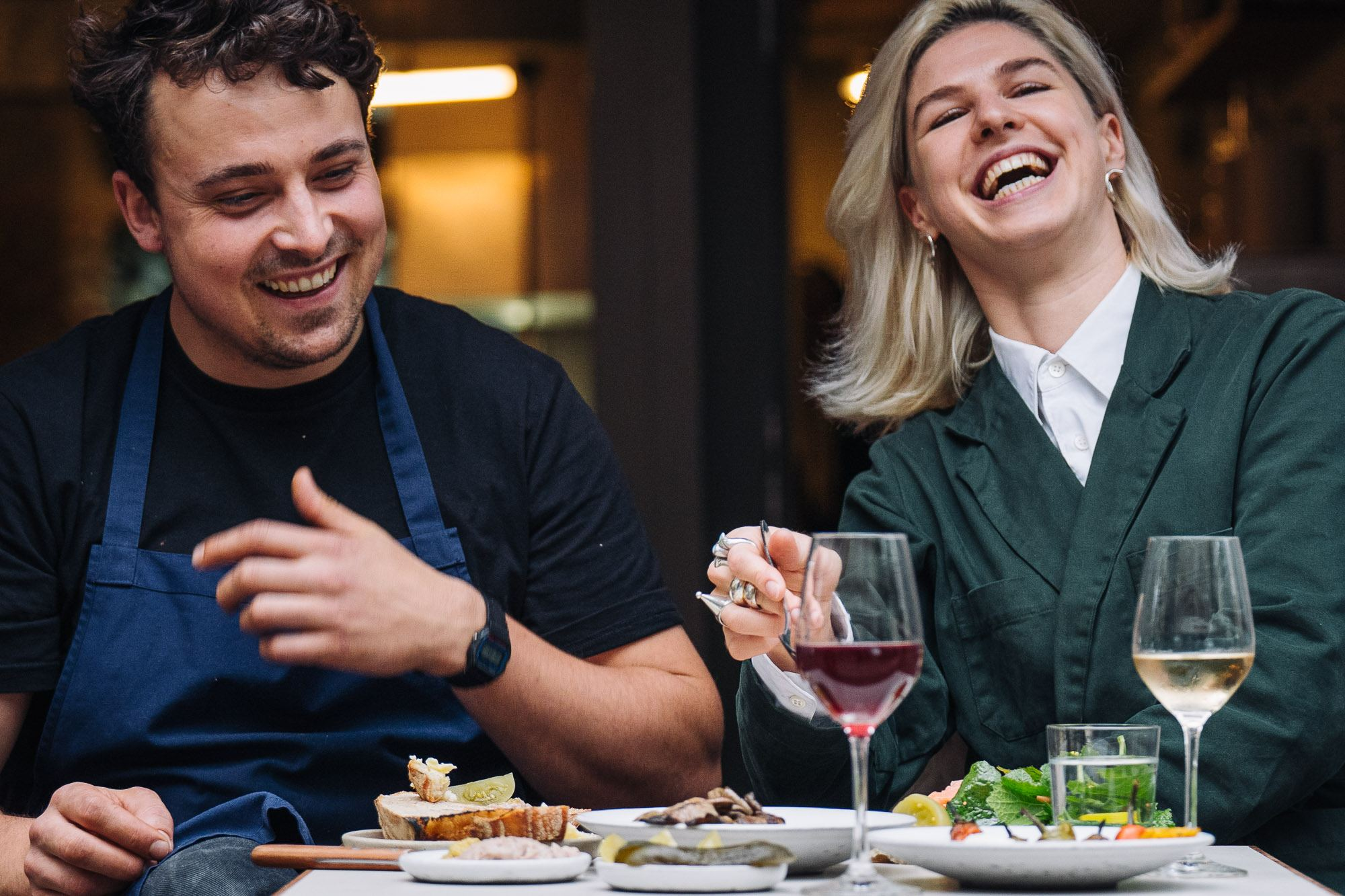 Otto the Restaurant Berlin Food Stories.Ursus Gowers Laughing